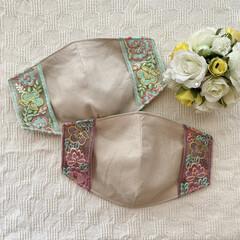 便利グッズ/インナーマスク/マスクカバー/リボン/刺繍/布小物/... my works :  インドの刺繍リボ…(2枚目)