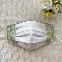便利グッズ/インナーマスク/マスクカバー/リボン/刺繍/布小物/... my works :  インドの刺繍リボ…(5枚目)
