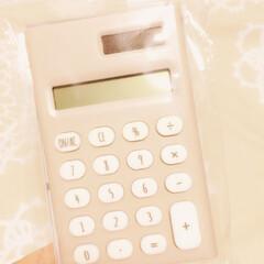 電卓/100均 ワッツの電卓😊 文字盤が可愛くて買う予定…