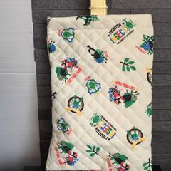 シューズバッグ パジャマ袋の布が残ったので シューズバッ…
