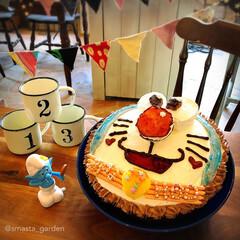 お誕生日会/ドラえもん/手作りケーキ/キャラクターケーキ/バースデーケーキ/大家族/... 先日は我が家の4番め お姫ちゃん 7歳の…