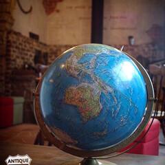 アメリカ/地球儀/ジャンクスタイル/アメリカンヴィンテージインテリア/ヴィンテージ/アンティーク雑貨 1867年より世界地図や地球儀を製造して…