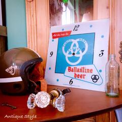 ロゴ/デザイン/ビール/Ballantine Beer/PAMクロック/アドバタイジング/... 🇺🇸アメリカ買付けた Ballantin…
