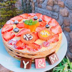 結婚記念日/記念日ケーキ/ミルクレープ/佐藤家ーキ/ケーキデコ/キッチン/... 2018.02.27.Tue * ㊗️ …