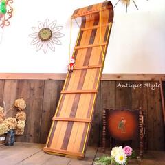 アンティークショップ/ディスプレイラック/こども部屋/そり/雪遊び/トボガンぞり/... 🇺🇸アメリカ買付 古い木製の大っきな雪ソ…
