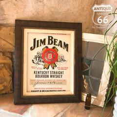 JIM BEAM/ジンビーム/額縁/シーリングワックス/インテリアサイン/ウォール看板/... 🇺🇸アメリカ買付け JIM BEAM (…