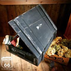 木箱/スタッキング収納/アーモボックス/アメリカ買付/弾薬箱/アンモボックス/... 🇺🇸アメリカ買付け 💣木製ヴィンテージア…