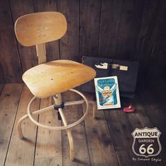 アメリカンヴィンテージ/ヴィンテージ椅子/ヴィンテージ家具/製図用椅子/ドラフティングチェア/ワークチェア/... 🇺🇸アメリカ買付け 製図用に作られた ド…