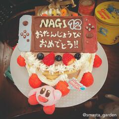 佐藤家ーキ/お誕生日/大家族/カービィ/ニンテンドースイッチ/ケーキデコ/... 2番目坊ちゃんの 12回目のお誕生日でし…