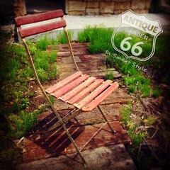シャビー/折りたたみ椅子/クラックペイント/アンスタカタログ/ヴィンテージストア/アメリカンヴィンテージ/... 🇺🇸アメリカ買付 メタル×ウッドの 折り…