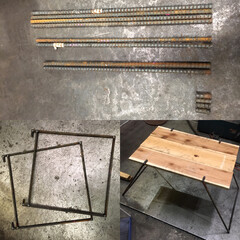 溶接/キッチンテーブル/パレット/杉板/異形丸棒/鉄筋/... (1枚目)