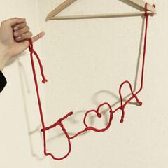 DAISO/プレ花嫁/♡/イニシャル/赤い糸/和装前撮り/... オール「DAISO」  材料費216円。…