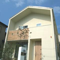 シンプル シンプルな家型の外観