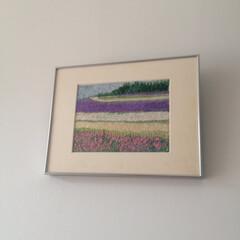 春夏/刺繍/展示 ラベンダーの丘