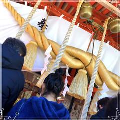 初詣/神社/あけおめ/冬/年末年始/おでかけ/... 明けましておめでとう⛩🎍(1枚目)