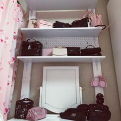 ドレッサーの上に棚を作りました/DIY棚
