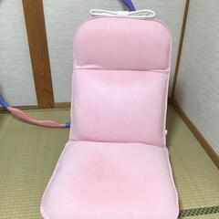 座椅子/パステルピンク/畳の部屋/和室/実家暮らし/自分専用/... 自分の部屋ではない(自分の部屋は洋室)畳…