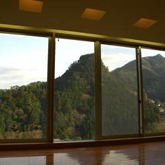 急勾配/傾斜地/崖地/寝室/ベッドルーム/眺望/... コンクリートの箱の中の、 寝室からの眺め…
