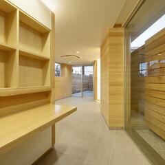店舗/二世帯住宅/変形敷地/三角形/線路  店舗内は、 突き当たり部分を、 屋外に…