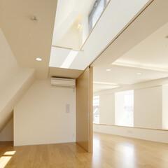 店舗/二世帯住宅/変形敷地/三角形/線路 北側斜線制限によって、 室内側に倒れかか…