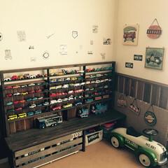 トミカ収納 おもちゃ収納棚(1枚目)
