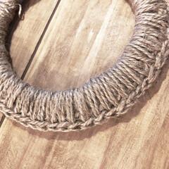 麻紐/なべ敷き/ハンドメイド/手作り わらの鍋敷きならぬ麻の鍋敷き。わらの鍋敷…