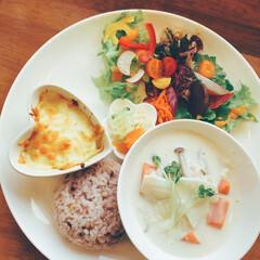 カフェランチ/カフェ/LIMIAごはんクラブ/わたしのごはん/グルメ ある日のカフェランチ。 野菜ソムリエのオ…