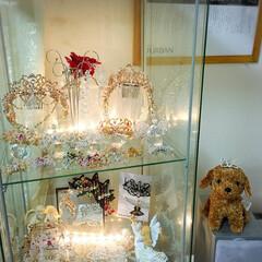 ハンドメイド/ティアラ/アクセサリー/スワロフスキー お部屋に飾ると光でキラキラします
