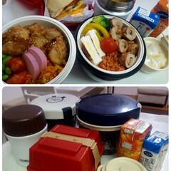 体重アップ/部活弁当/高校男子弁当 おはようございます 毎日これだけの量を持…