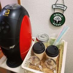 カフェ/コーヒーセット/マグカップ/食器/キッチンキャスター/キャスター/... 家カフェ。簡単収納。