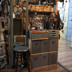 りんご箱リメイク/ラブリコ/ロッカー風引き出し/団地セルフリノベーション/DIY りんご箱とラブリコで収納棚! りんご箱に…