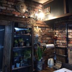 エイジング/団地リノベ/キッチン/男前インテリア キッチンの照明に投光器をプラスしました!