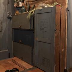 我家サイズ/下駄箱/玄関 すのこ利用で我家ピッタリの下駄箱完成!