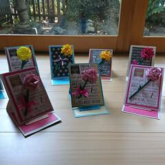 カーネーション/メッセージカード/母の日 母の日カーネーションのメッセージカードを…