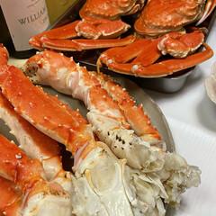 ズワイガニ/タラバガニ/小松菜/柚子/プロシュート/かにかまぼこ/... お正月っぽいお皿に お正月っぽい料理飾っ…(5枚目)