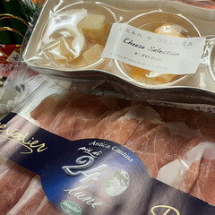 ズワイガニ/タラバガニ/小松菜/柚子/プロシュート/かにかまぼこ/... お正月っぽいお皿に お正月っぽい料理飾っ…(4枚目)