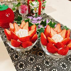 盛るだけいちごケーキ/食べればいちごケーキ/チョコレート/生クリーム/アミカ/スポンジシート/... いちごのお花が咲きました~🍓 ❀.(*´…(3枚目)