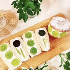ホイップクリーム/生クリーム/マリトッツォ/フルーツサンド/業務スーパー/食パン/... マリトッツォとフルーツサンド 作りました…(2枚目)