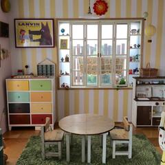 おままごとキッチン/キッズテーブル/キッズチェア/キッズスペース/子供部屋 リビング横の子供スペースです。壁はマスキ…