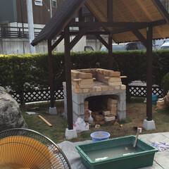 庭づくり/アウトドア/男前/雑貨/ガーデニング/ピザ窯/... 数年前にピザ釜をDIYしました。 土台や…(7枚目)