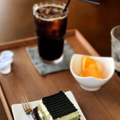 おでかけ/スイーツ 抹茶ケーキも頂きました😊💕小豆がきいてい…(1枚目)