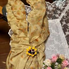 100均/ダイソー/セリア/ハンドメイド/ファッション/CARINO スカーフ🧣を付けた時に使うスカーフ止です…