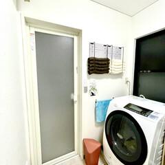 洗面所/セリア/ハンドメイド いつも使用するフェースタオルを収納するラ…(2枚目)