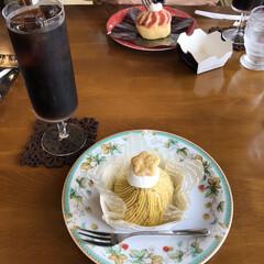 お出掛け 近所のケーキ屋さんでイートイン😊🎶安納芋…