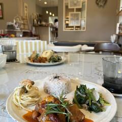 昼食 今日のランチ😊🎶お肉がホロホロ崩れる程に…(1枚目)