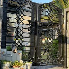 ペイント 家を建てて25年、いよいよ門扉の色が変色…