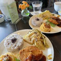 Cafe 行きつけの焙煎珈琲cafeに今年初めてラ…