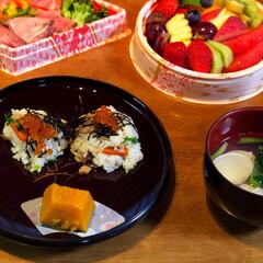 ひな祭り/フード/スイーツ 今日ひな祭り🎎ちらし寿司とハマグリのお吸…