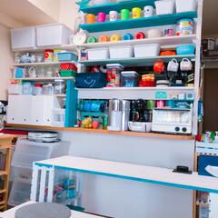 DIY/ディアウォール/100均/セリア/ダイソー/インテリア/... キッチンカウンターまわりを壁面収納に🌈 …