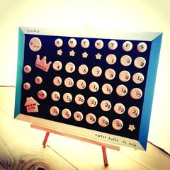 木粉粘土/万年カレンダー/ハンドメイド/100均/セリア/ダイソー/... 万年カレンダーをハンドメイド☆全て100…